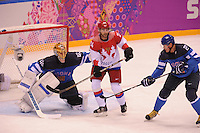 OLYMPICS: SOCHI: Bolshoy Ice Dome, 19-02-2014, Ice Hockey, Men's Play-offs Quarterfinals, Finland - Russian Fed., final result 3-1, ©photo Martin de Jong