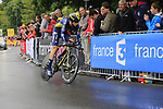 Jens Keukeleire (BEL) Orica-Scott in action during Stage 1, a 14km individual time trial around Dusseldorf, of the 104th edition of the Tour de France 2017, Dusseldorf, Germany. 1st July 2017.<br /> Picture: Eoin Clarke | Cyclefile<br /> <br /> <br /> All photos usage must carry mandatory copyright credit (&copy; Cyclefile | Eoin Clarke)