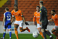 Blackpool's Armand Gnanduillet celebrates scoring the opening goal <br /> <br /> Photographer Kevin Barnes/CameraSport<br /> <br /> The EFL Sky Bet League One - Blackpool v Gillingham - Tuesday 11th February 2020 - Bloomfield Road - Blackpool<br /> <br /> World Copyright © 2020 CameraSport. All rights reserved. 43 Linden Ave. Countesthorpe. Leicester. England. LE8 5PG - Tel: +44 (0) 116 277 4147 - admin@camerasport.com - www.camerasport.com
