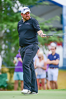 Shane Lowry (IRL) prepares to putt on 10 during Sunday's final round of the PGA Championship at the Quail Hollow Club in Charlotte, North Carolina. 8/13/2017.<br /> Picture: Golffile | Ken Murray<br /> <br /> <br /> All photo usage must carry mandatory copyright credit (&copy; Golffile | Ken Murray)