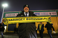 Fans arrive for the big game during Haringey Borough vs AFC Wimbledon, Emirates FA Cup Football at Coles Park Stadium on 9th November 2018