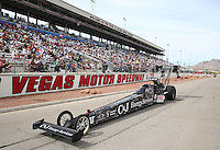 Apr 10, 2015; Las Vegas, NV, USA; NHRA top fuel driver Dave Connolly on the return road during qualifying for the Summitracing.com Nationals at The Strip at Las Vegas Motor Speedway. Mandatory Credit: Mark J. Rebilas-
