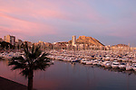 Alicante city from Royal yacht club marina, Alicante City, Costa Blanca, Spain