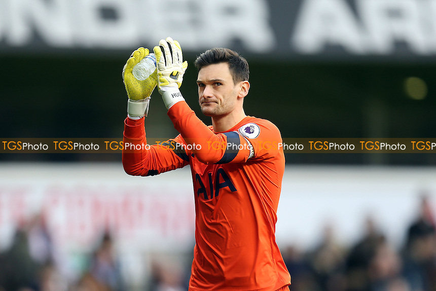 Hugo Lloris of Tottenham Hotspur during Tottenham Hotspur vs Stoke City, Premier League Football at White Hart Lane on 26th February 2017