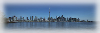 A panorama of the Toronto Skyline from the Islands.