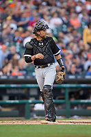 Chicago White Sox catcher Kevan Smith (36) during the game against the Detroit Tigers at Comerica Park on June 2, 2017 in Detroit, Michigan.  The Tigers defeated the White Sox 15-5.  (Brian Westerholt/Four Seam Images)