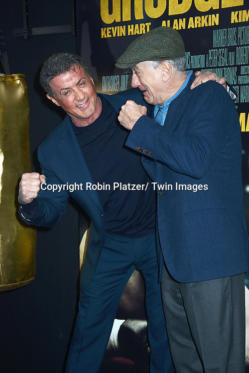 "Sylvester Stallone and Robert De Niro attend the World Premiere of ""Grudge Match"" at the Ziegfeld Theatre in New Yok City on December 16, 2013."