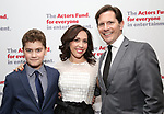 Hudson Flynn, Andrea Burns and Peter Flynn attend The Actors Fund Annual Gala at the Marriott Marquis on 5/8//2017 in New York City.