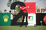 Dubai World Championship Golf. Earth Course,.Jumeirah Golf Estate, Dubai, U.A.E...Ross Fisher teeing off from the second during the first round of the Dubai World Golf championship..Photo: Fran Caffrey/www.golffile.ie...