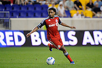 Javier Martina (33) of Toronto FC. The New York Red Bulls defeated Toronto FC 5-0 during a Major League Soccer (MLS) match at Red Bull Arena in Harrison, NJ, on July 06, 2011.