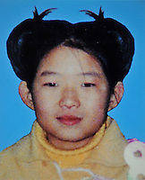 Zhu Yi (9), born in Dec. 1995. Missing in Xin Tang Dongchuan Village in Guangzhou on 03 Apr 2005.  Girls in  China are increasingly targeted and stolen as there is a shortage of wives as the gender imbalance widens with 120 boys for every 100 girls..PHOTO BY SINOPIX