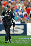 21 September 2008: Oakland Raiders' head coach Offensive Coordinator Question walks back to the sidelines during a game against the Buffalo Bills at Ralph Wilson Stadium in Orchard Park, NY. The Bills rallied for 10 unanswered points in the 4th quarter to defeat the Raiders 24-23...Mandatory Photo Credit: Ed Wolfstein Photo