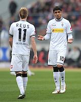 FUSSBALL   1. BUNDESLIGA  SAISON 2011/2012   24. Spieltag 1. FC Nuernberg - Borussia Moenchengladbach      04.03.2012 Marco Reus (LI.) mit Igor de Camargo (Borussia Moenchengladbach)