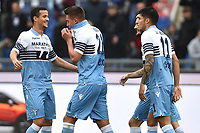 Sergej Milinkovic-Savic of Lazio (c) celebrates after scoring a goal during the Serie A 2018/2019 football match between SS Lazio and Cagliari at stadio Olimpico, Roma, December 22, 2018 <br />  Foto Andrea Staccioli / Insidefoto