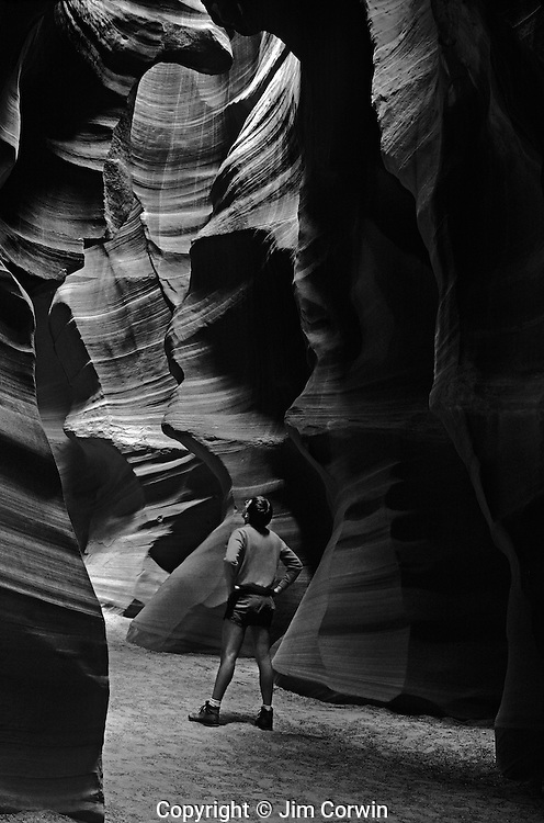 Antelope Canyon rock formations inside slot canyon near Page Arizona State USA