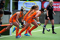 Action from the women's National Hockey League 3rd place playoff between Midlands and Auckland at National Hockey Stadium in Wellington, New Zealand on Sunday, 23 September 2018. Photo: Dave Lintott / lintottphoto.co.nz