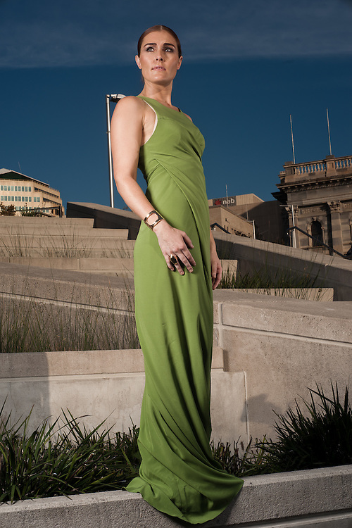Jemma Rix from the cast of Wicked in and around the Adelaide Festival centre.