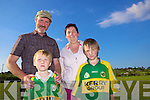 Aeneas, Connor, Joan and Darren Lane from Knocknagashal enjoying the sports day last Sunday in Knocknagashal for the Annual Harvest Quenn Festival.