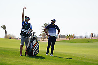 Jordan Smith (ENG) on the 9th during Round 4 of the Saudi International at the Royal Greens Golf and Country Club, King Abdullah Economic City, Saudi Arabia. 02/02/2020<br /> Picture: Golffile | Thos Caffrey<br /> <br /> <br /> All photo usage must carry mandatory copyright credit (© Golffile | Thos Caffrey)