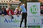 Anthony Kang (USA) tees off on the 10th tee to start his round during Day 1 Thursday of the Open de Andalucia de Golf at Parador Golf Club Malaga 24th March 2011. (Photo Eoin Clarke/Golffile 2011)