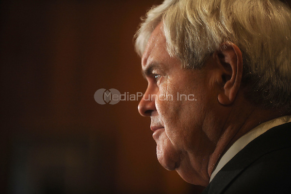Republican presidential candidate Newt Gingrich speaks during a press conference at the Union League in New York City on Monday, December 5, 2011. © mpi01 / MediaPunch Inc.