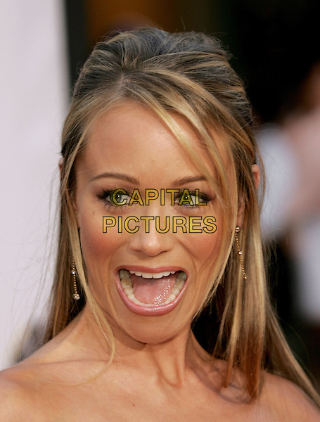 "CHRISTINE TAYLOR.The World Premiere of ""Dodgeball:A True Underdog Story"", Westwood, California.June 14th, 2004.headshot, potrait, mouth open, gesture.www.capitalpictures.com.sales@capitalpictures.com.©Capital Pictures"