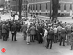 A photograph of the Communist Party Unemployment Day demonstration that took place in Waterbury on May 1, 1931.