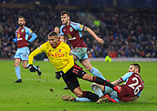 9th December 2017, Turf Moor, Burnley, England; EPL Premier League football, Burnley versus Watford; Richarlison of Watford is upended in the penalty box by Phillip Bardsley of Burnley but the referee refuses to give a penalty
