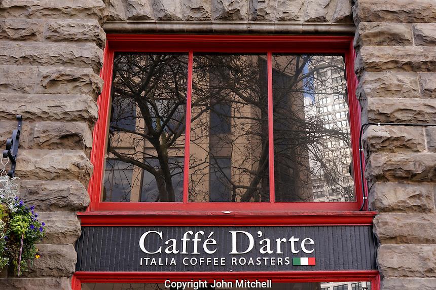 Caffe D'arte Italian Coffee Roasters coffee shop in the Pioneer Square district,  Seattle, Washington, USA