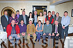 Kerry Coiste na nO?g honoured their retirees front row l-r: John Foley, Denis Donovan, Der Flynn, Peggy Horan, Billy Broderick and Johnny Brosnan. Back row: Eamon Whelan Chairman, Siobhain O'Mahony, Mary Jo Coffey, Derek Daly, Josephine O'Connor, Tadgh O'Halloran, Leona Twiss, Tom Keane, Nora Hallissey, Patsy Cremin President, Mike Hussey and Reggie Griffin