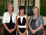 Lady Captain Irene Kirwan pictured with visiting captains  Anne Landy County Louth and Brenda Phelan Laytown & Bettystown at the Captain's dinner at Seapoint Golf Club. Photo:Colin Bell/pressphotos.ie