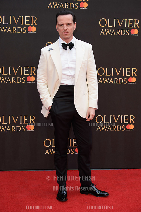 Andrew Scott arriving for the Olivier Awards 2018 at the Royal Albert Hall, London, UK. <br /> 08 April  2018<br /> Picture: Steve Vas/Featureflash/SilverHub 0208 004 5359 sales@silverhubmedia.com