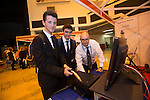 Skills Active Cymru<br /> Students Josh Lewis &amp; Zac Dyer<br /> from Stanwell School Chris Rowlands from College sir Gar.<br /> Cardiff International Arena<br /> 23.10.14<br /> &copy;Steve Pope-FOTOWALES
