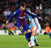 11th January 2018, Camp Nou, Barcelona, Spain; Copa del Rey football, round of 16, 2nd leg, Barcelona versus Celta Vigo; Jose Arnaiz is challenged for the ball by Lobotka of Celta