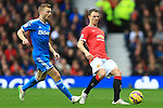 Sebastian Larsson of Sunderland and Jonny Evans of Manchester United - Manchester United vs. Sunderland - Barclay's Premier League - Old Trafford - Manchester - 28/02/2015 Pic Philip Oldham/Sportimage