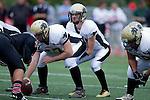 Palos Verdes, CA 11/10/11 - Arthur Fischer (Peninsula #67) and Matt Imwalle (Peninsula #17) in action during the Peninsula-Palos Verdes varsity football game.