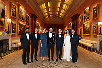 12 March 2019 - London, England - Chiwetel Ejiofor, Luke Evans, Tamsin Egerton, Josh Hartnett, Benedict Cumberbatch, Amal Clooney and George Clooney during a dinner to celebrate The Princes Trust at Buckingham Palace in London. The Prince of Wales, President, The Princes Trust Group hosted a  dinner for donors, supporters and ambassadors of Princes Trust International. Photo Credit: ALPR/AdMedia