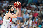 Real Madrid's player Sergio Llull during Liga Endesa 2015/2016 Finals 3rd leg match at Barclaycard Center in Madrid. June 20, 2016. (ALTERPHOTOS/BorjaB.Hojas)