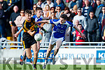 David Shaw Dr Crokes in action against Donagh O'Brien  and Shane Brosnan Kerins O'Rahillys in the Kerry Senior Football County Championship Semi Final between Dr Crokes and Kerins O'Rahillys at Austin Stack Park on Sunday.