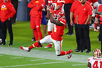 2nd February 2020, Miami Gardens, Florida, USA;   Kansas City Chiefs Wide Receiver Sammy Watkins (14) makes a leaping catch during the second quarter of Super Bowl LIV on February 2, 2020 at Hard Rock Stadium in Miami Gardens