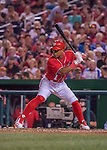 6 August 2016: Washington Nationals infielder and top prospect Wilmer Difo in action against the San Francisco Giants at Nationals Park in Washington, DC. The Giants defeated the Nationals 7-1 to even their series at one game apiece. Mandatory Credit: Ed Wolfstein Photo *** RAW (NEF) Image File Available ***