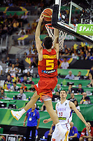 Spain's  FERNANDEZ, Rudy during 2014 FIBA Basketball World Cup Group Phase-Group A, match Serbia vs Spain. Palacio  Deportes of Granada. September 4,2014. (ALTERPHOTOS/Raul Perez)