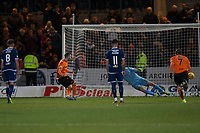 8th November 2019; Dens Park, Dundee, Scotland; Scottish Championship Football, Dundee Football Club versus Dundee United; Nicky Clark of Dundee United scores a penalty for 1-0 in the 55th minute - Editorial Use
