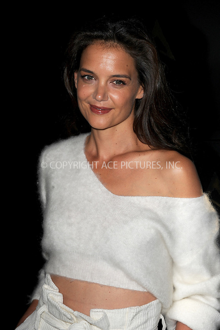 www.acepixs.com<br /> September 8, 2016  New York City<br /> <br /> Katie Holmes &amp; TAO Group unveil Avra Madison on September 8, 2016 in New York City.<br /> <br /> <br /> Credit: Kristin Callahan/ACE Pictures<br /> <br /> <br /> Tel: 646 769 0430<br /> Email: info@acepixs.com