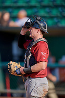 Michael Emodi (19) of the Idaho Falls Chukars during the game against the Ogden Raptors at Lindquist Field on August 9, 2019 in Ogden, Utah. The Raptors defeated the Chukars 8-3. (Stephen Smith/Four Seam Images)