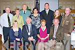 Kerry Community Games hard working committee with their guests at the Kerry Community Games annual awards ceremony in the River Island Hotel on Friday front row l-r: Marie Lohan Kerry Group, Kerry Mayor, Patsy O'Connell Kerry Chairperson, Tim Fitzsimons Munster Chairperson. Back row: Neilus Collins, Margaret Culloty, Brian Lewis, Brid Kenny, Donal Doherty, Sharon Fealey and Tony Looney....
