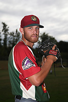 Nick Kennedy (8) of the Boise Hawks poses before a game against the Everett AquaSox at Everett Memorial Stadium on July 21, 2017 in Everett, Washington. Everett defeated Boise, 10-4. (Larry Goren/Four Seam Images)