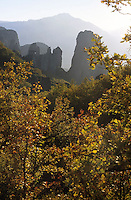 METEORA, GREECE, 15.10.02. The rocks of Meteora. Since the 11th century AD many Greek Orthodox monastries have been founded on the towering cliffs of Meteora. Nowadays Meteora is a place of pilgrimage for  christians, mountaineers, and tourists.  Photo by Frits Meyst/Adventure4ever.com