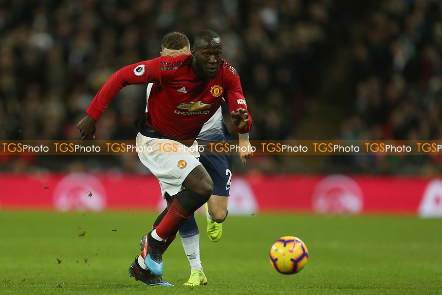 Romelu Lukaku of Manchester United during Tottenham Hotspur vs Manchester United, Premier League Football at Wembley Stadium on 13th January 2019