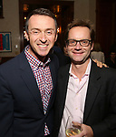 Andrew Lippa and Michael Riedel attends the DGF Salon with Stephen Schwartz at the Uterberg Residence on May 1, 2017 in New York City.